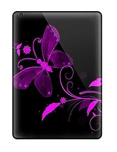 Hot Design Premium YSHjCZZ25160GtfSB Tpu Case Cover Ipad Air Protection Case(pretty Purple Butterfly )