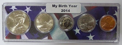 - 2014-5 Coin Birth Year Set in American Flag Holder Uncirculated