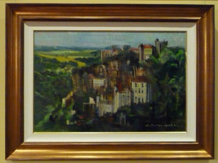 France Oil Painting (ROCAMADOUR (FRANCE) - An Original Oil Painting by Alex ZWARENSTEIN)
