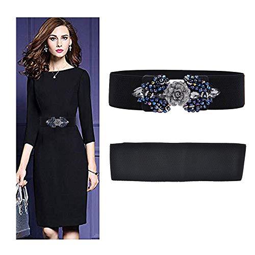 VITORIA'S GIFT Vintage Women Waist Belt,Gold Metal Mirror Face Belts Wide Self Tie Wrap Around Waist Thin Waistband -