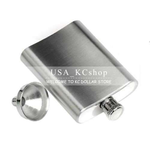 New 10oz Stainless Steel Liquor Alcohol Hip Whiskey Flask with Matching + Funnel