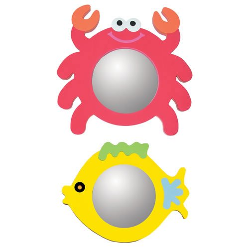 Crab & Fish Mirror Set (Set of 2) by Edushape