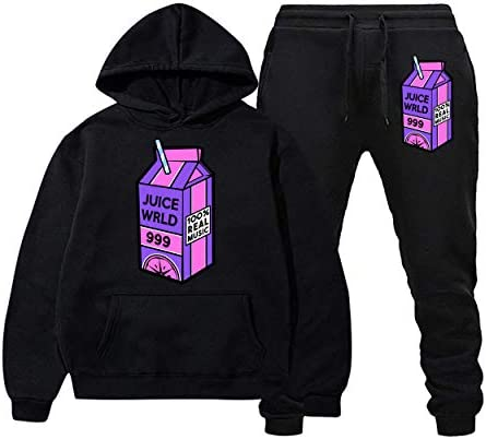Rip Juice Lyrical Lemonade Sweatshirts Sweatpants Suit Fashion Hoodies and Long Pants Two Piece for Men and Women