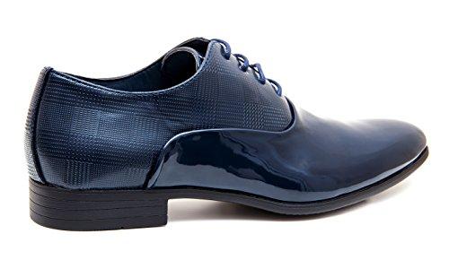 linea Evoga scuro uomo scarpe classica eleganti vernice class blu cerimonia wA67gA
