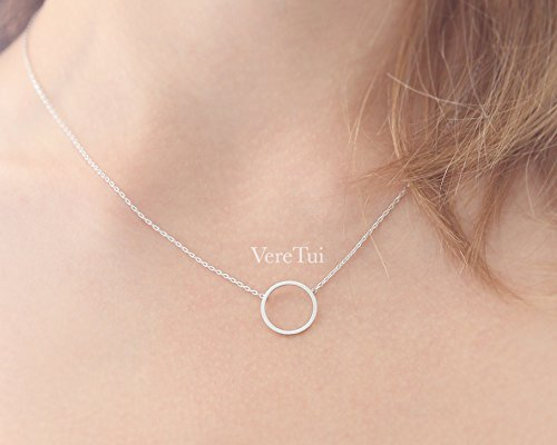 Silver Karma Infinity Circle Ring Necklace ()