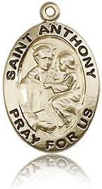 14ktゴールドSt Anthony of Padua Medal