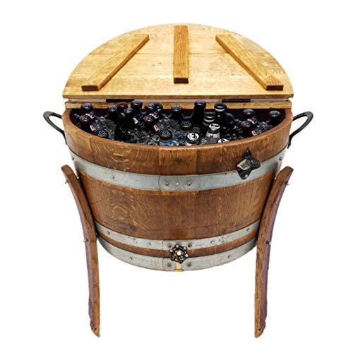 Central Coast Creations Half Barrel Ice Chest - Wine Barrel Handcrafted Wine Barrel Furniture ()