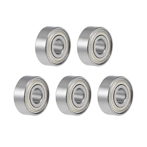 (uxcell MR83ZZ Deep Groove Ball Bearing 3x8x3mm ABEC-1 Chrome Steel Bearings 5-Pack)