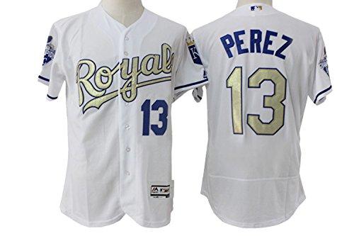 Men's Short Sleeved No.13 Kansas City Baseball Jersey White M