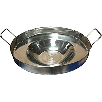 Bioexcel Comal Bola Stainless steel Griddle Pan Concave Shaped 16 Inch - Choose size 16