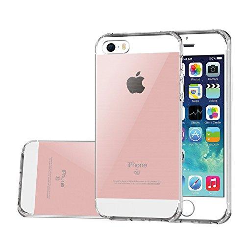 IPHONE SE Hülle , ivencase Prämie Ultra Slim Kristall IPHONE 5 Shell [Voller Rand Schutz] Hart PC Transparent IPHONE 5S Schutzhülle für iphone SE 4.0 Zoll Clear Case