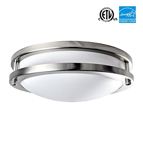 Luxrite LED Flush Mount Ceiling Light, 10 Inch, 14W, 5000K (Bright White), Dimmable, 1000 Lumens, Ceiling Light Fixture, Energy Star & ETL, Perfect for Entryway, Hallway, Kitchen, and Closet
