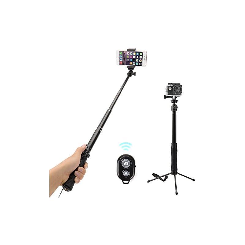 Bluetooth Selfie Stick, Alfort 3 in 1 Ex