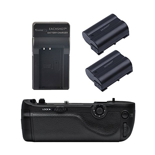 EACHSHOT updated Vertax D16 Grip For Nikon D750 Multi Battery Grip as Rplacement For MB-D16 With EN-EL15 batteries and Charger