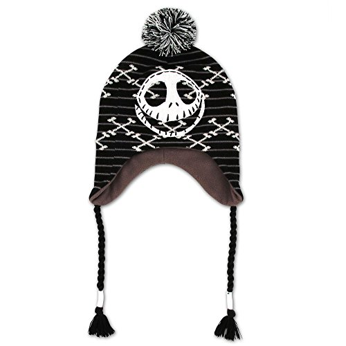 Disney Big Girls Nightmare Before Christmas Jack Skellington Cold Weather Hat, Age 8-18
