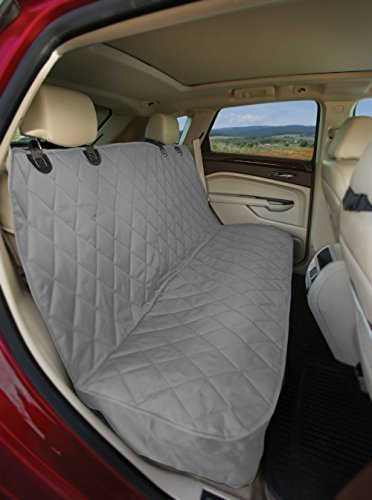 4Knines Dog Seat Cover without Hammock for Cars, SUVs, and Small Trucks (Grey)