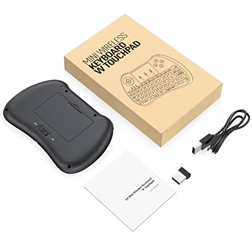 Aerb 2.4GHz Mini Wireless Keyboard with Mouse Touchpad Rechargeable Combos for PC, Pad, Google Android TV Box and More