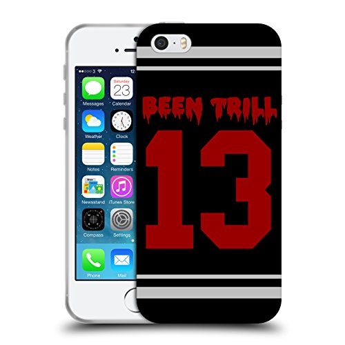 Official Been Trill Red Thirteen Jersey Soft Gel Case for Apple iPhone 5 / 5s / SE