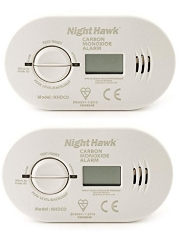 2 x Kidde 5DCO Battery Operated Carbon Monoxide Alarm with Digital Display