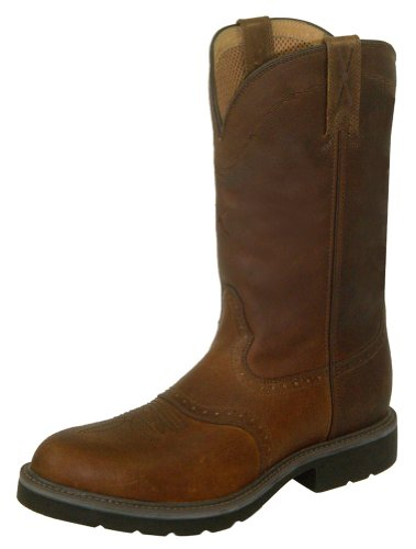 Twisted X Mens Cowboy Brown Work Boots 11.5EE