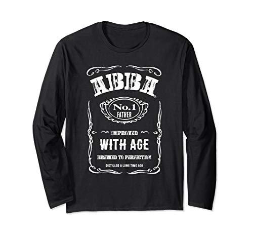 Vintage ABBA Jewish, Hebrew Father Long Sleeve T-Shirt