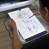 Handser A4 3.5mm Ultra-Thin Portable LED Light Tablet Pad Digital Tablet Artcraft Drawing Board USB Power Adjustable LED Light Box Tracer Diamond Embroidery Diamond Painting Cross Stitch Tool