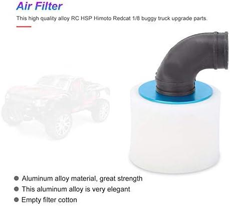 Bleu Filtre /à air en alliage daluminium pour voiture radiocommand/ée 1//8 SH 28 Nitro Engine Powered HSP Redcat Huile pour camions RC BuggyTruck