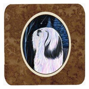 Caroline's Treasures SS8348FC Tibetan Terrier Foam Coasters (Set of 4), 3.5