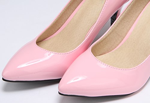 SEXYHER Womens Fashion 2.2 Inches Kitten Heel Office Ladies Shoes - SHOQY27-2.2 Pink eSl2OrtL