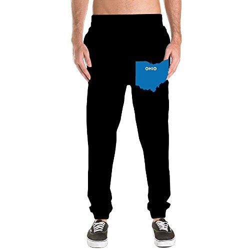 Ohio Drawstring Sweatpants - Ohio Maps Men's Basic Cotton Sweatpants Jogger Pants Fitted Bottom Elastic Waist