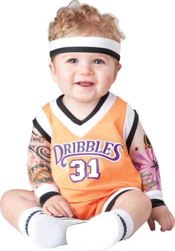 Costume Player 18 (InCharacter Costumes Baby's Double Dribble Basketball Player Costume, Orange, Large)