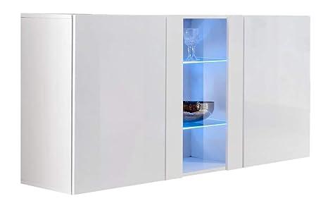 Credenza A Muro Moderna : Credenza sospesa moderna design salve bianco larghezza cm x