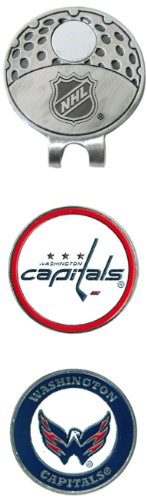 Team Golf NHL Washington Capitals Golf Cap Clip with 2 Removable Double-Sided Enamel Magnetic Ball Markers, Attaches Easily to Hats