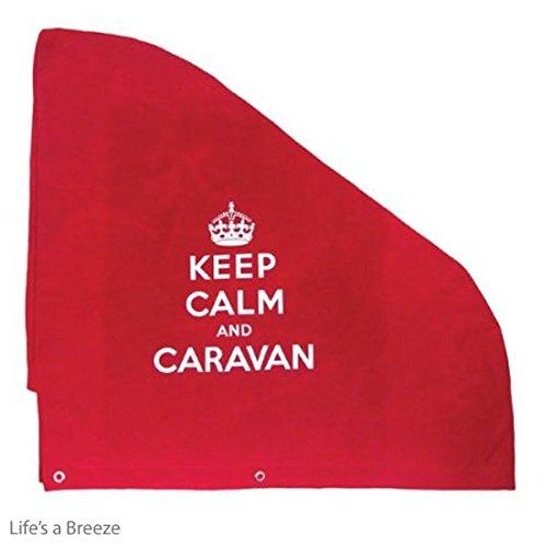Cotton Canvas Keep Calm And Caravan Hitch Cover