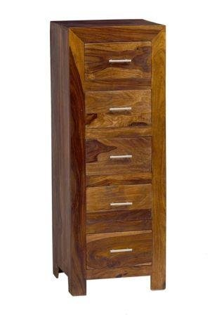 Kraft Home Chest of Five Drawers (Lacquer Finish, Honey)