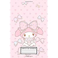 Composition Notebook: Hello Kitty Wide Ruled Blank Lined Themed Journal Paper 7.44 x 9.69 Inches 110 Pages