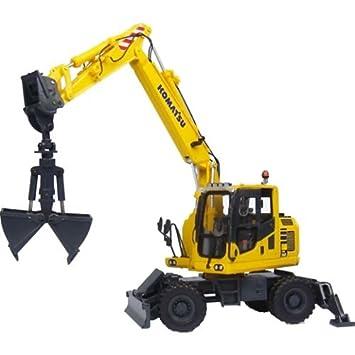 Excavadora De Ruedas Komatsu PW148-10 Con Compartimiento De Clamshell: Amazon.es: Juguetes y juegos