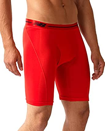 New Balance Performance 9'' Inseam Sport Brief - Red (X-Large, Red/Red)