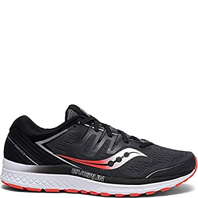 Saucony Men's Guide ISO 2, Black/Red, 7 D