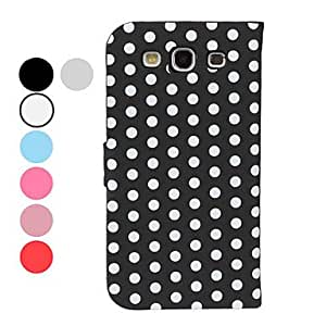 FJM Dot Pattern PU Leather Case with Stand for Samsung Galaxy S3 I9300 (Assorted Colors) , Red
