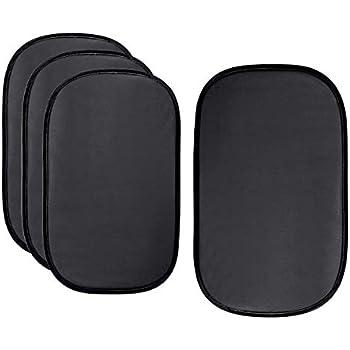"""Sun Shade for Car Window 17/"""" x 14/"""" Inch Block UV ABN Car Sun Shade 4-Pack Rear /& Side Windows Cool Vehicle Temp"""