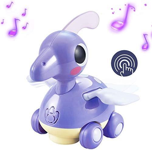 Zooawa Musical Dinosaur Toy Walking Pterosaurs Dinosaur Car Birthday Gift Present for Kids Teaching Learning Activity ? Purple