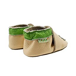 Sayoyo Baby Dinosaurs Soft Sole Beige Leather Infant And Toddler Shoes 0-6Months