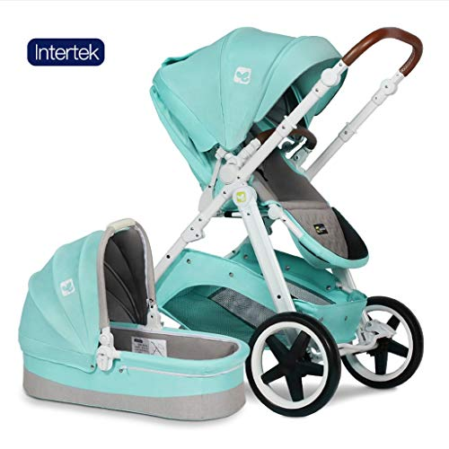☝YEC Two-Way Stroller, Three-in-one Cart Handle Adjustment Large Storage Basket Pram Pushchair (Color : E)