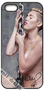 Miley Cyrus Signed HD image case for iphone 5/5S black + Card Sticker