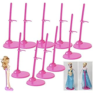 "StillCool Doll Stand, Box of 10 - Doll Display Holder for 11"" to 13"" Dolls and Action Figures Doll Accessories"