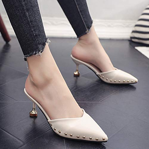 Sandali Da Stiletto Appuntito Somesun Donne Moda Baotou Singole Scarpe Beige Donna Estate sandali Indossando Pantofole xZIgxHq8