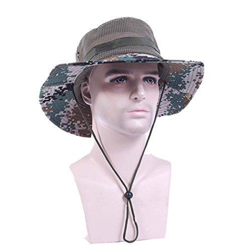 Mens Military Camouflage Boonie Bush Safari Outdoor Fishi...