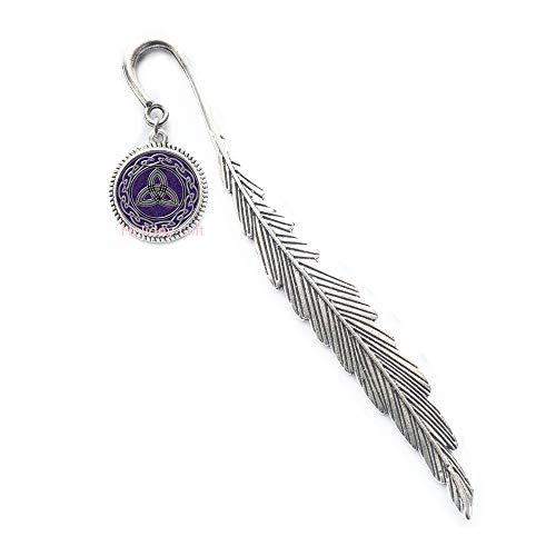 (Celtic Knot Bookmark Celtic Dragon Bookmark Trinity Bookmarker Triquetra Rune Bookmarker Occult)
