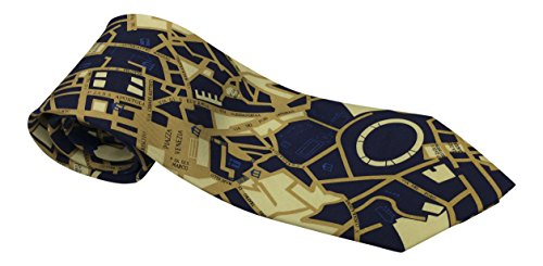 City Silk London Of Tie - Mens 100% Silk Novelty Cities Tie / Necktie 3 Styles Including New York, Rome and Paris (Rome)